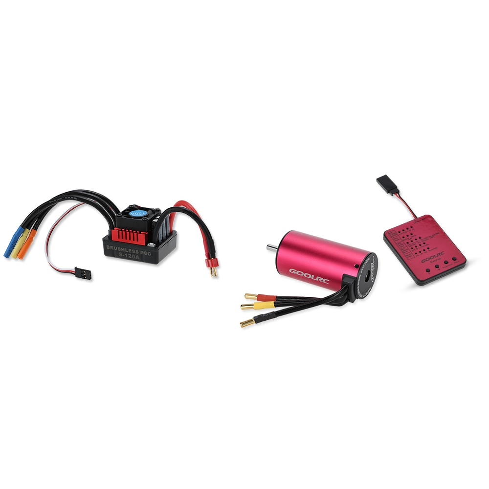 Original GoolRC S3670 2850KV Sensorlose Bürstenlosen Motor 120A Bürstenlosen ESC und Programm Karte Combo Set für 1/8 RC Auto Lkw