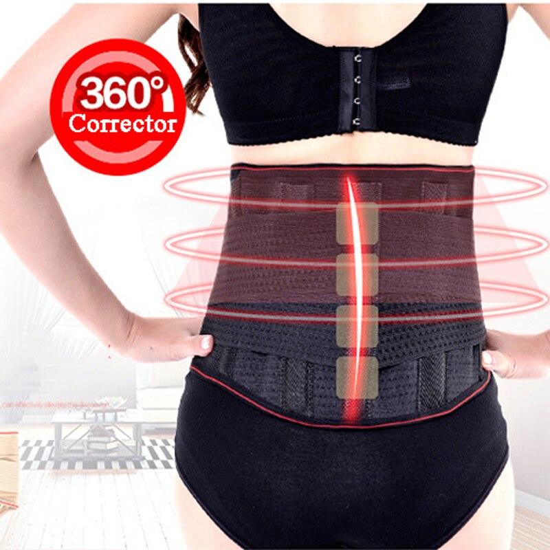 Cinturón Lumbar de banda doble para terapia de auto-Calefacción magnética con soporte de cintura inferior de turmalina ajustable C11