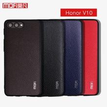 Pour Huawei Honor V10 housse Mofi pour Huawei Honor View 10 PU Leater couverture arrière Anti frapper dur couverture arrière pour Honor V10