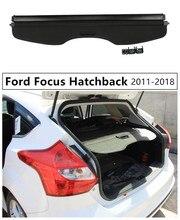 Bagażnika z tyłu pokrywa bagażnika pokrywa bezpieczeństwa dla Ford Focus Hatchback 2011 2012 13 14 2015 2016 2017 2018 wysokiej jakości akcesoria samochodowe