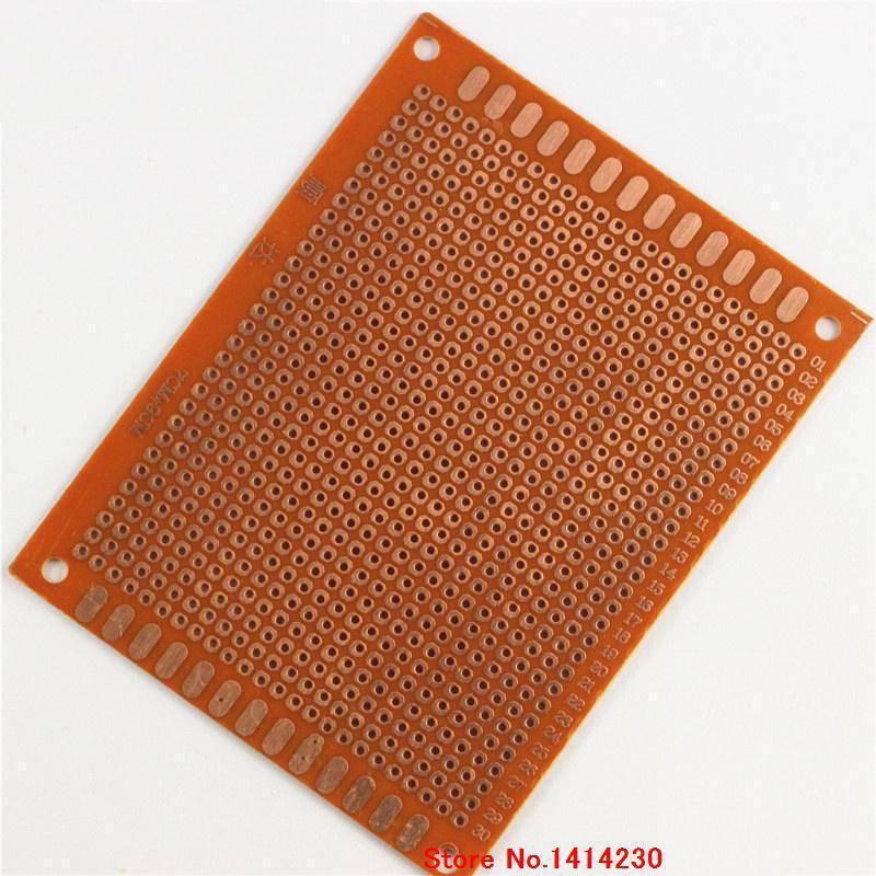 Placa de pruebas de 1 Uds., placa de agujero de 7*9CM 2,54 MM, placa de circuito universal de placa PCB de 1,2 MM de espesor