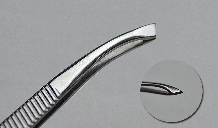 Tweezers For Female Makeup Beauty Forcep Stainless Steel Clamp Pliers Plucking Eyebrow Tweezer Pulling Elbow Mustache Tool Sale
