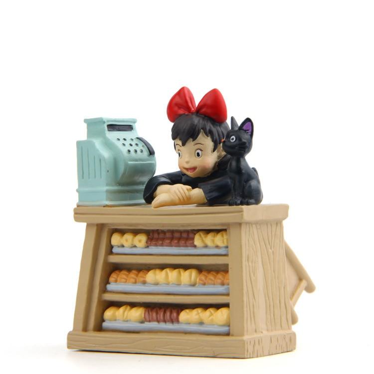 New Kiki Gigi Bakery Kiki's Delivery Service Reconstruction Animiation Action Figure Doll House Kid Toy Miniature Diorama Model