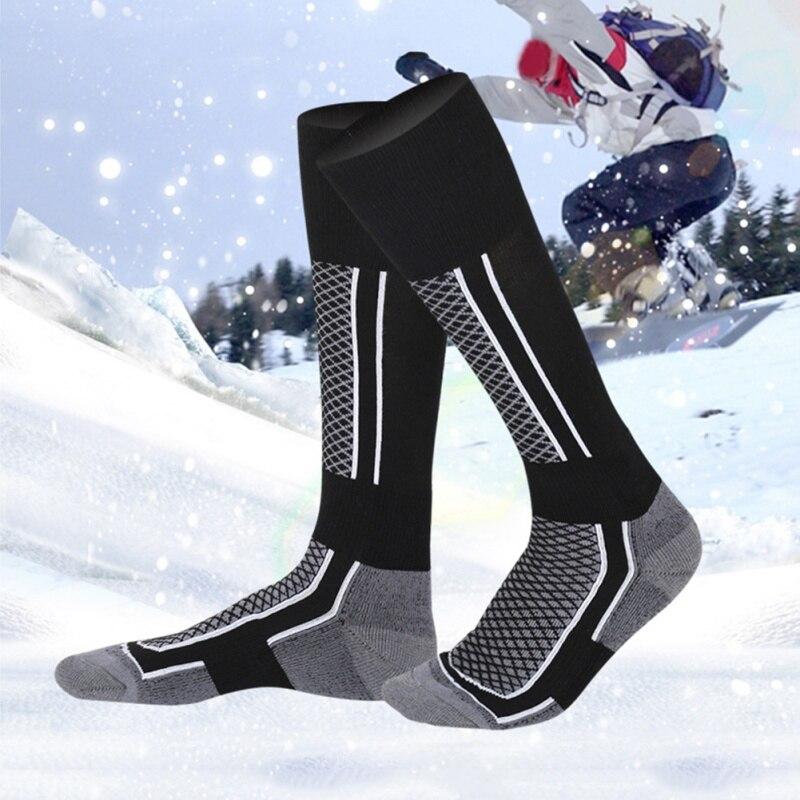 Nuevos calcetines térmicos de invierno para adultos, calcetines gruesos de algodón para deporte de abrigo, calcetines para snowboard, ciclismo, niños, niñas, esquí, senderismo, calcetines, calentadores de piernas