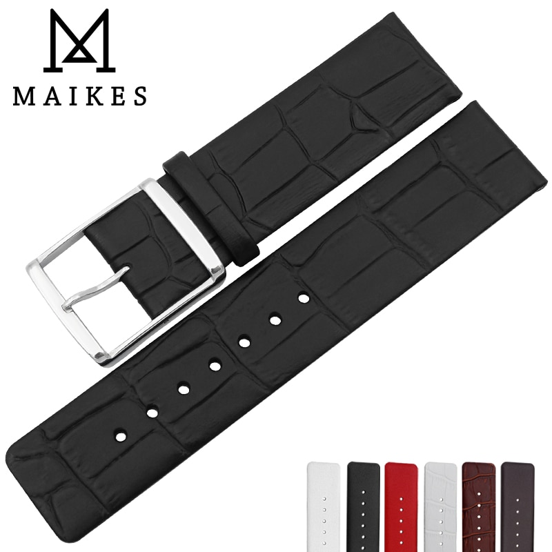 MAIKES-Correa de cuero genuino para reloj, banda de 16mm, 18mm, 22mm para...
