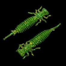 Marche poisson 10 pièces larve pêche leurres 50mm souple plastique leurres larve eau douce nageurs Silicone doux appât ver pour la pêche