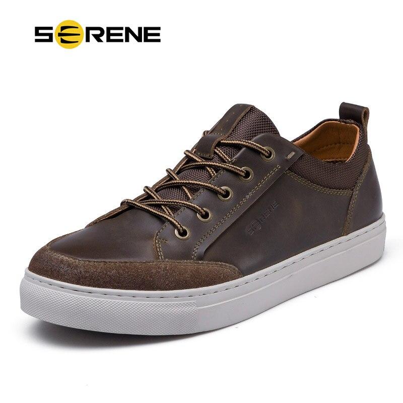 SERENE-أحذية جلدية للرجال من جلد البقر ، أحذية كاجوال عالية الجودة ، قابلة للتنفس ، من جلد الغزال ، أحذية ترفيهية ريترو
