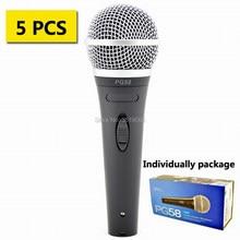 ¡Envío gratis! 5 uds. De descuento, micrófono dinámico cardioide vocal shuretype PG58, micrófono vocal con cable PG58