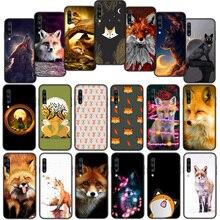 Cute Fox In Autumn forest Soft Cover Case for Samsung Galaxy A50 A6 Plus A7 A8 2018 A5 A9 A10 A30 A40 A70
