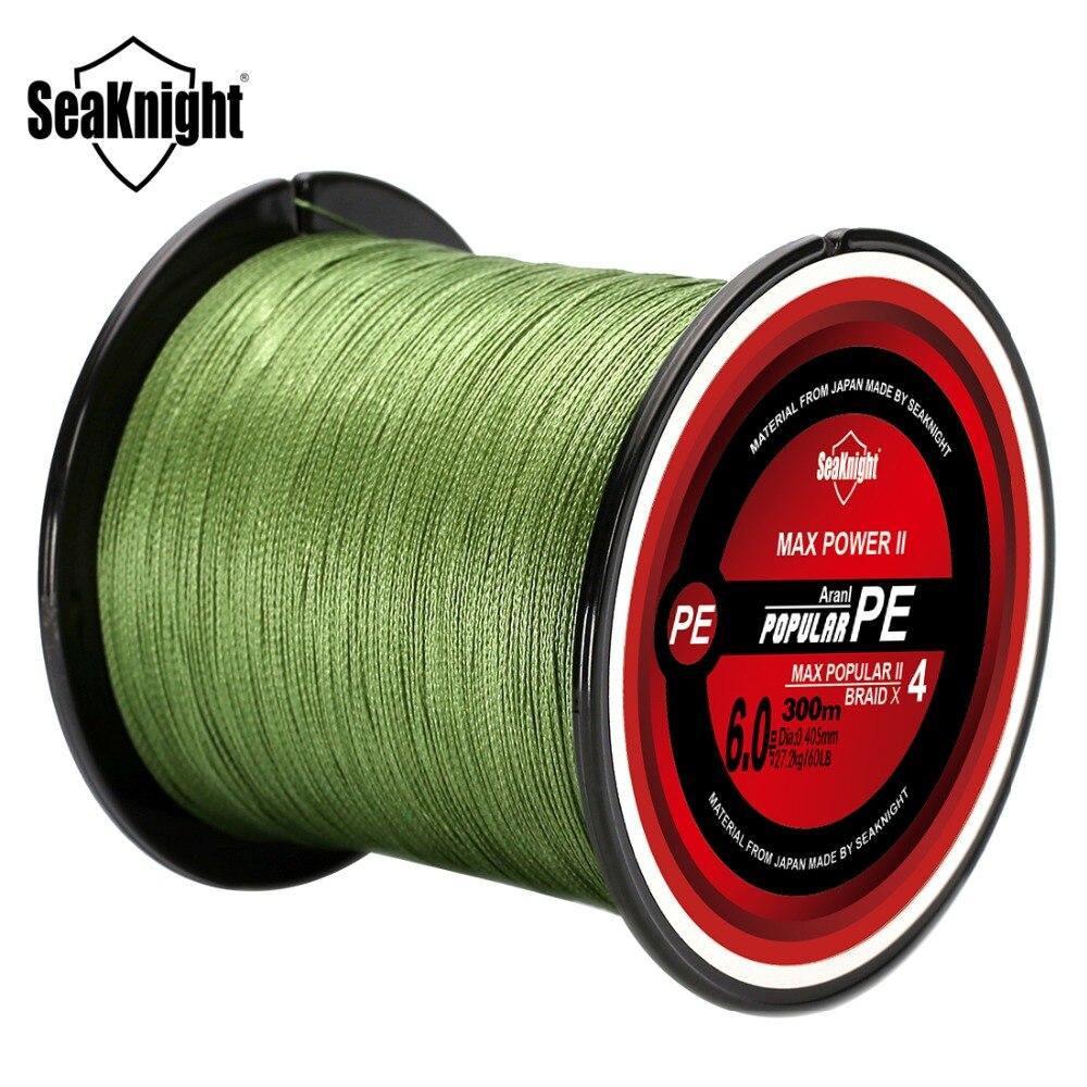 SeaKnight TriPoseidon PE 4 нити 500 м леска 8 10 20 30 40 60 80LB плетеная леска