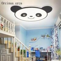 Cartoon Creative Panda ceiling lamp boys girls bedroom children's room lamp modern cute LED Animal Bear ceiling lamp