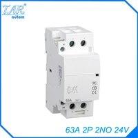din rail household ac contactor 63a 2no 24v household contact module din rail modular contactor