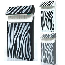 Ensemble de 3 couleurs à rayures   Housse de mode en caoutchouc élastique pour femmes, manches de cigarettes, 10.5*5.8*1.4CM