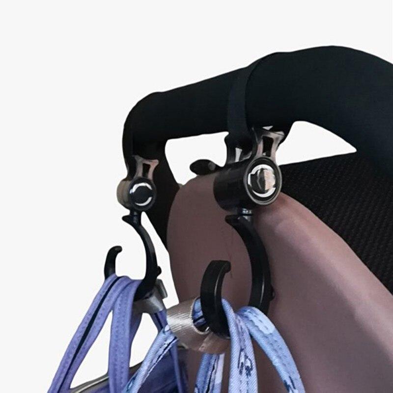 2 uds./percha de bebé bolsa de bebé ganchos de cochecito de bebé rotar 360 grados gancho de carro Accesorios
