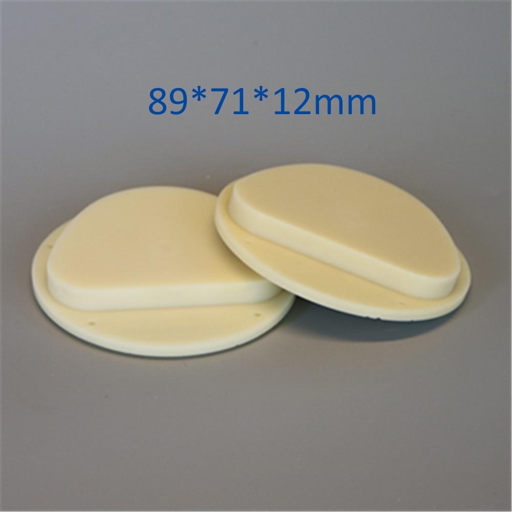 5 piezas x 89x71x12mm Dental bloques de PMMA fresado CAD/CAM Amann Girrbach Sistema Dental laboratorio Material PMMA disco Color A1... A2... A3