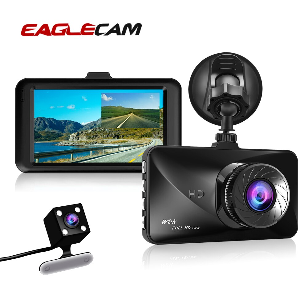 3 zoll Full HD 1080 P Auto Kamera DVR Dual Lens Video Recorder Loop Aufnahme Dashcam Nachtsicht G- sensor Dash Cam Kanzler