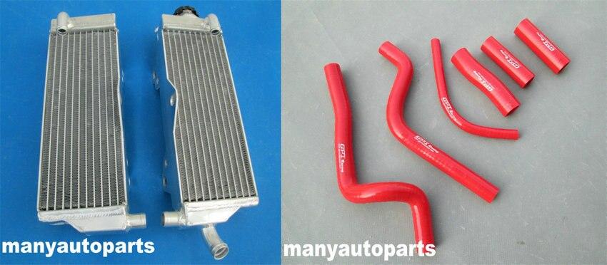 Mangueira de Radiador de alumínio & vermelho PARA HONDA CR500R 96 CR500 1991-2001 1992 1993 1994 1995