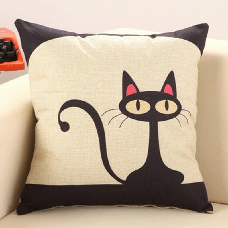 Bz032 criativo travesseiro lombar gato dos desenhos animados sem interior decorativo lance almofadas cadeira assento casa decoração têxtil presente