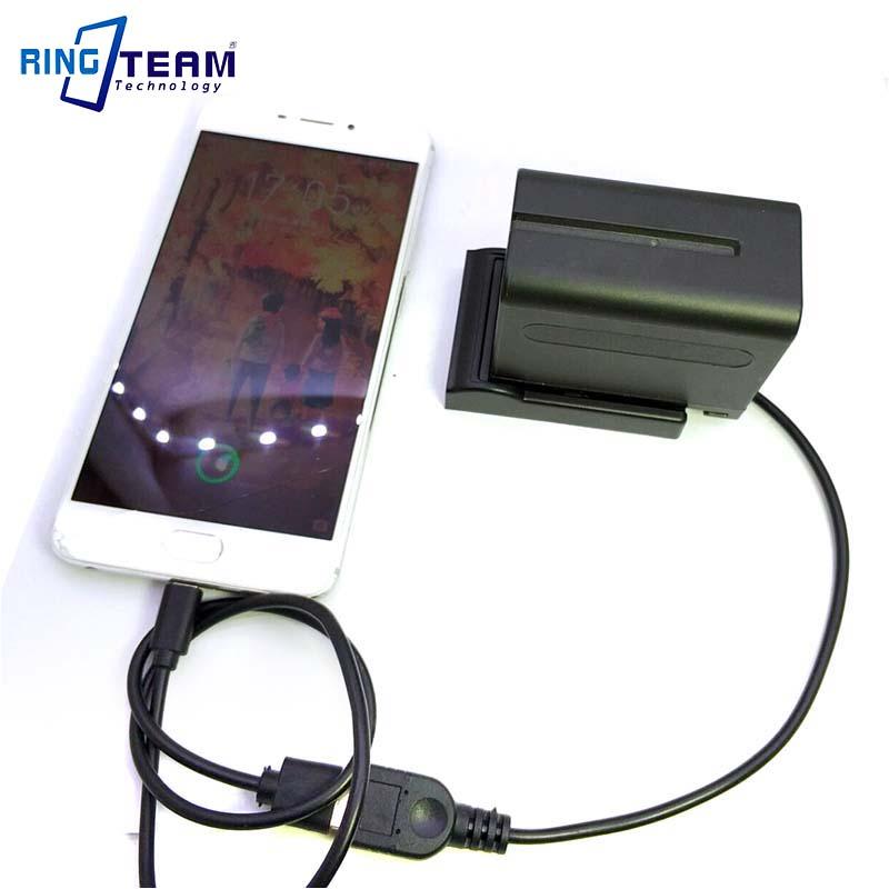 NP-F970 F750 F550 Battery Mount Cradle Holder Adapter Plate DC 5V Female USB Output for Digital Cameras / Mobile Phone / Pad ...