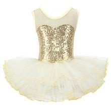 Belles filles ballerine fée bal fête Costume enfants paillettes fleur robe Dancewear gymnastique justaucorps Ballet Tutu robe
