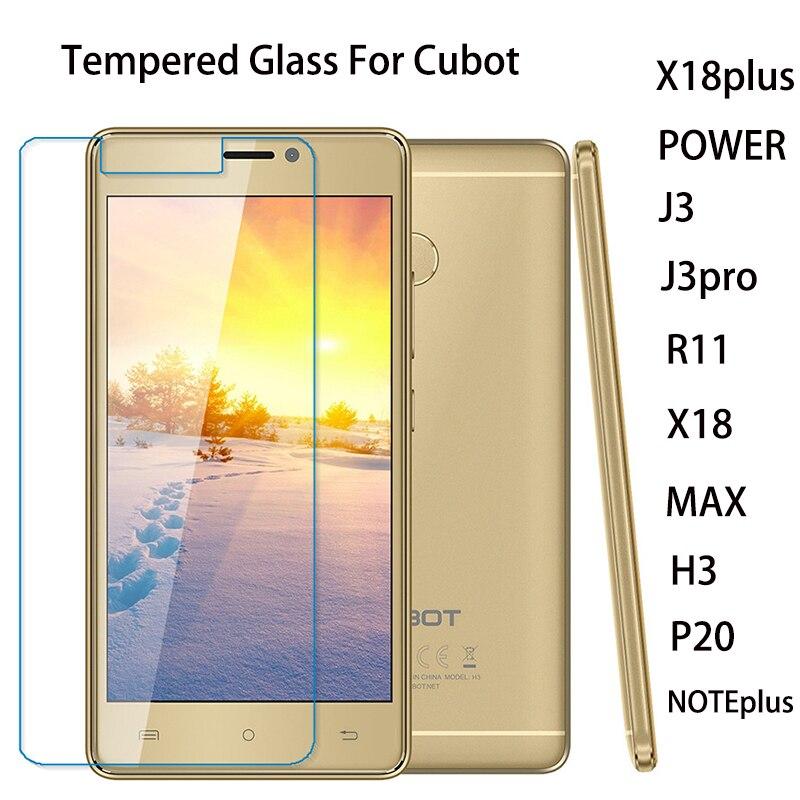 Cristal de teléfono Cubot para Cubot X18 H3 J3 X18 Plus J3 Pro R11 P20 PowerMAX Note Plus, Protector de pantalla de vidrio templado a prueba de explosiones
