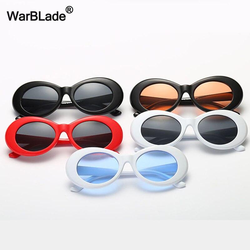 Warblade moda nirvana kurt cobain óculos de sol clássico feminino masculino óculos de sol óculos ovais uv400 óculos para mulher