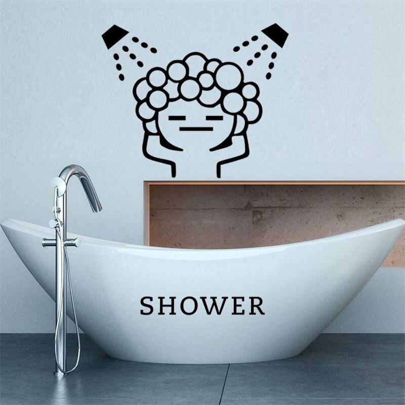 Pegatinas creativas de pared de burbujas para baby love shower para puerta corredera de baño, pegatinas de arte para pared de habitación de ducha de cristal a prueba de agua