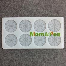 Mom&Pea CX063 High Quality Orange Shaped Silicone Mold Chocolate Mold Cake Decoration