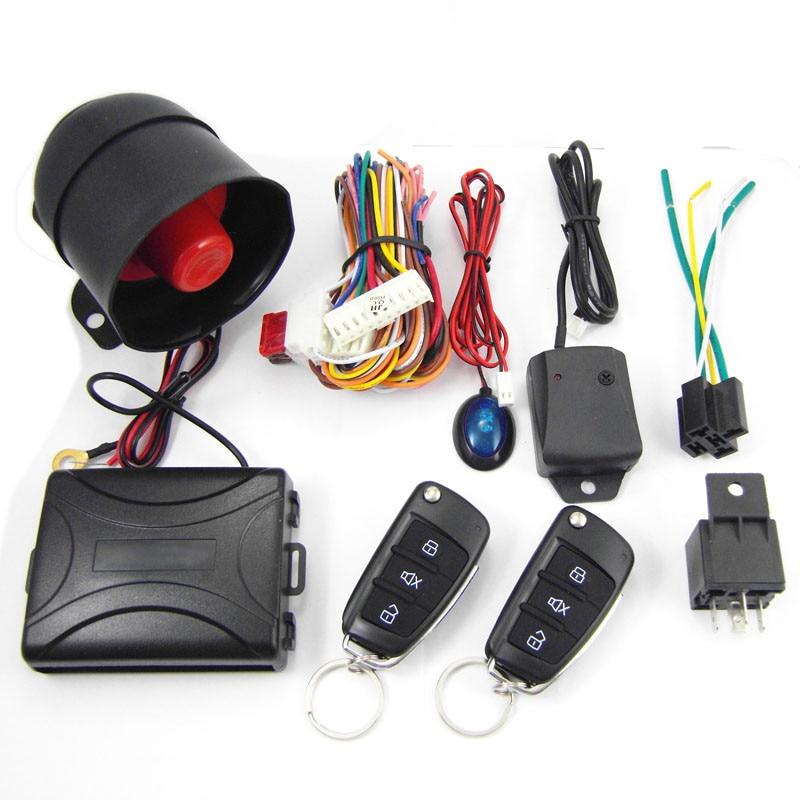 CA703-8118 One Way Remote Control Siren Sensor Auto Car Alarm Systems & Central Door Locking Security Key for Toyota