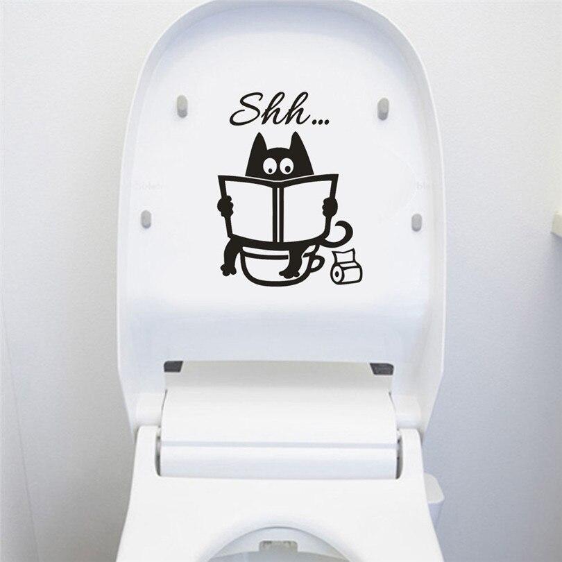 5 uds WC letrero para entrada de baño pegatinas de puerta para lugar público decoración del hogar diseño creativo calcomanías de vinilo para manualidades Mural Art25