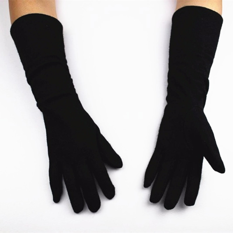 Guantes Mujer Real Time-limited Women Gloves New Female Models Lengthen Elastic Knitted Gloves Fashion Long Mittens Solid