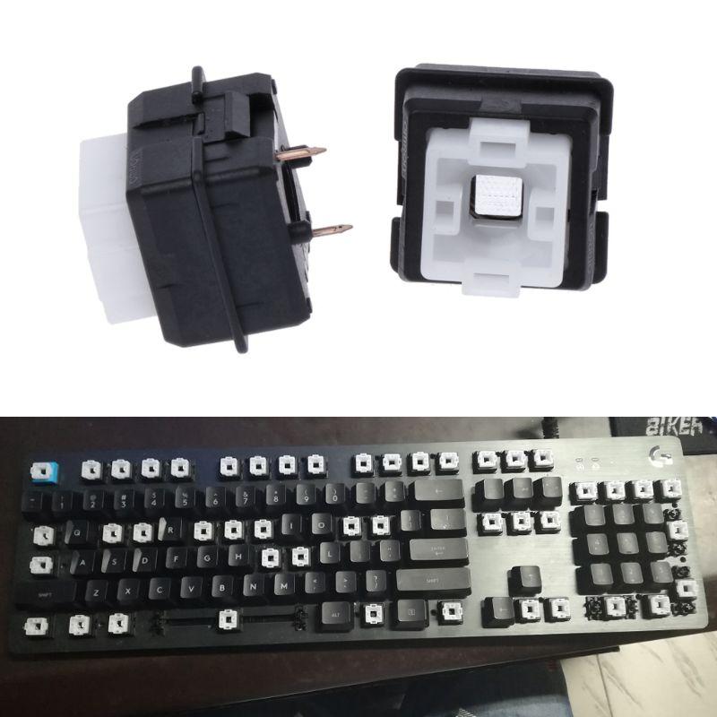 2 pçs original romer-g interruptor omron eixo para logitech g910 g810 g413 k840 rgb eixo interruptor de teclado hyq