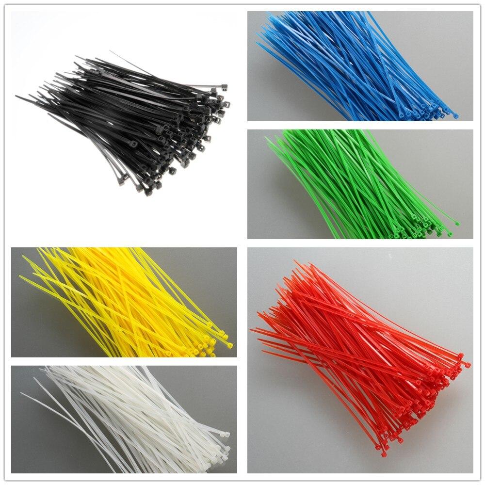 Bridas De nailon autoblocantes, 1000 Uds., 2,5x100mm, abrazaderas, tirantes De plástico, Bridas...