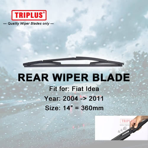 Задние щетки стеклоочистителя для Fiat Idea (2004-2011), 1 шт., 14 дюймов, 360 мм, автомобильные задние стеклоочистители, щетки стеклоочистителя для задн...