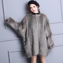 Nerazzurri hiver élégant fausse fourrure manteau femmes chaud progressif couleur luxe moelleux lâche surdimensionné manches chauve-souris fourrure fausse fourrure veste