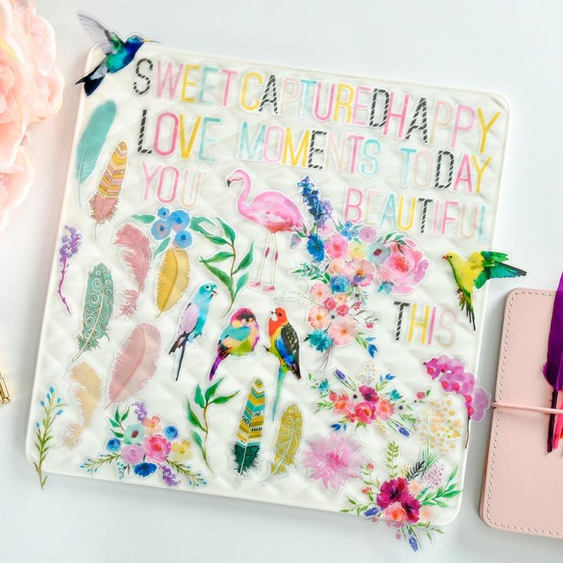 KSCRAFT 35 шт Розовый фламинго ацетат Diecut формы для скрапбукинга счастливый планнер/карточная работа/Журнал проект