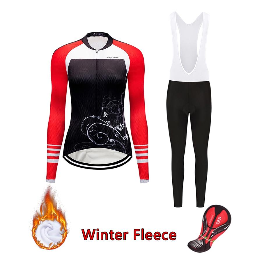 Kit de ropa térmica de invierno para bicicleta 2020, Conjunto de jersey de gel profesional para ciclismo, ropa para bicicleta de carretera mtb para mujer, pantalones de traje skinsuit