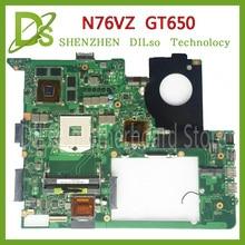 KEFU N76VZ motherboard Para ASUS N76V N76VM N76VZ Laptop motherboard mainboard REV 2.2 GT650 N76V trabalho de Teste 100% original