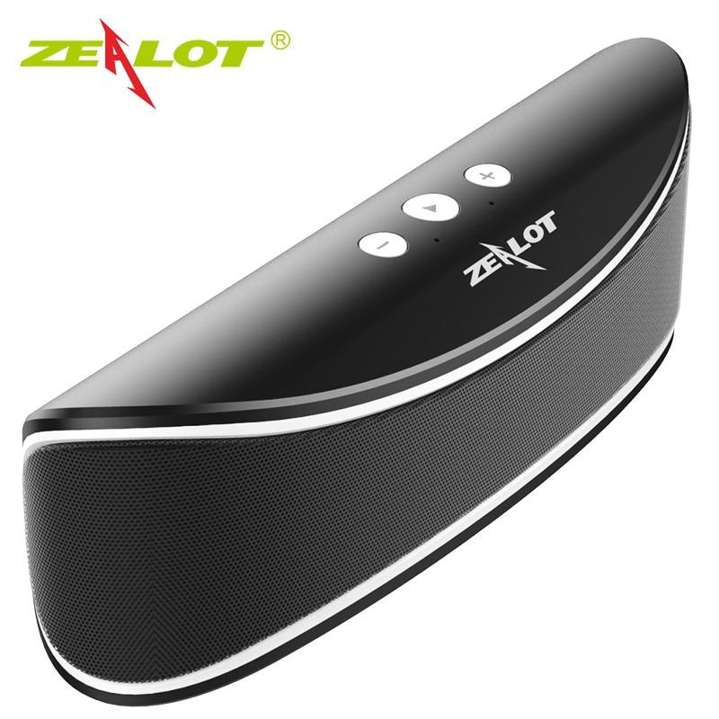 Zealot S2 altavoz inalámbrico portátil con bluetooth soporte TF tarjeta USB coche fiesta 3D estéreo caja de sonido música Sunwoofer