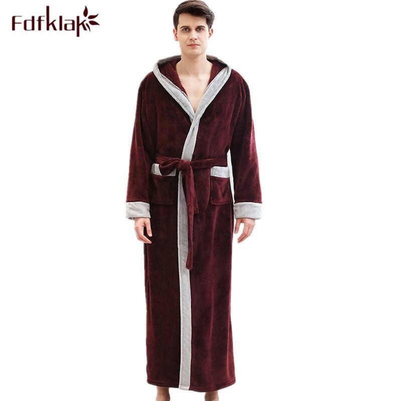 Kimono de alta calidad hombre nueva bata de baño para hombre Otoño...
