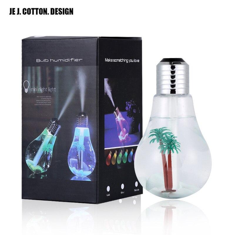Красочные лампочки увлажнитель воздуха ультразвуковой USB 400 мл эфирное масло диффузор распылитель освежитель воздуха создатель тумана для дома и офиса