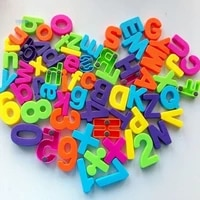 Set Of 26 Colorful Teaching Magnetic Numbers Fridge Magnets Alphabet Home Decor Fridge Stickers For Kid Gift Wholesale