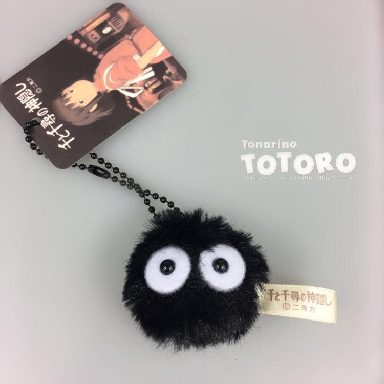 My Neighbor TOTORO New Brand Wholesale Plush Mini SOOT SPRITE PLUSH Spirited Away Dust Bunny Black Elf Toys