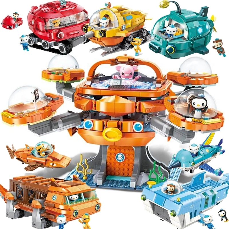 ENLIGHTEN Creator Ideas City Octopod octonautas doctor dibujos animados modelo de bloques de construcción juegos niños kits compatibles Duplo