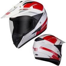 ROT Weiß BYE moto rcycle helm full face helm klar visier spoiler casco moto capacete moto kreuz DOT approverd für racing