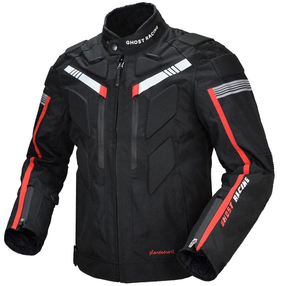 Ropa de caballero de algodón de cuatro estaciones chaquetas de motos de ciclismo chaqueta de competición y carretera tienen protección