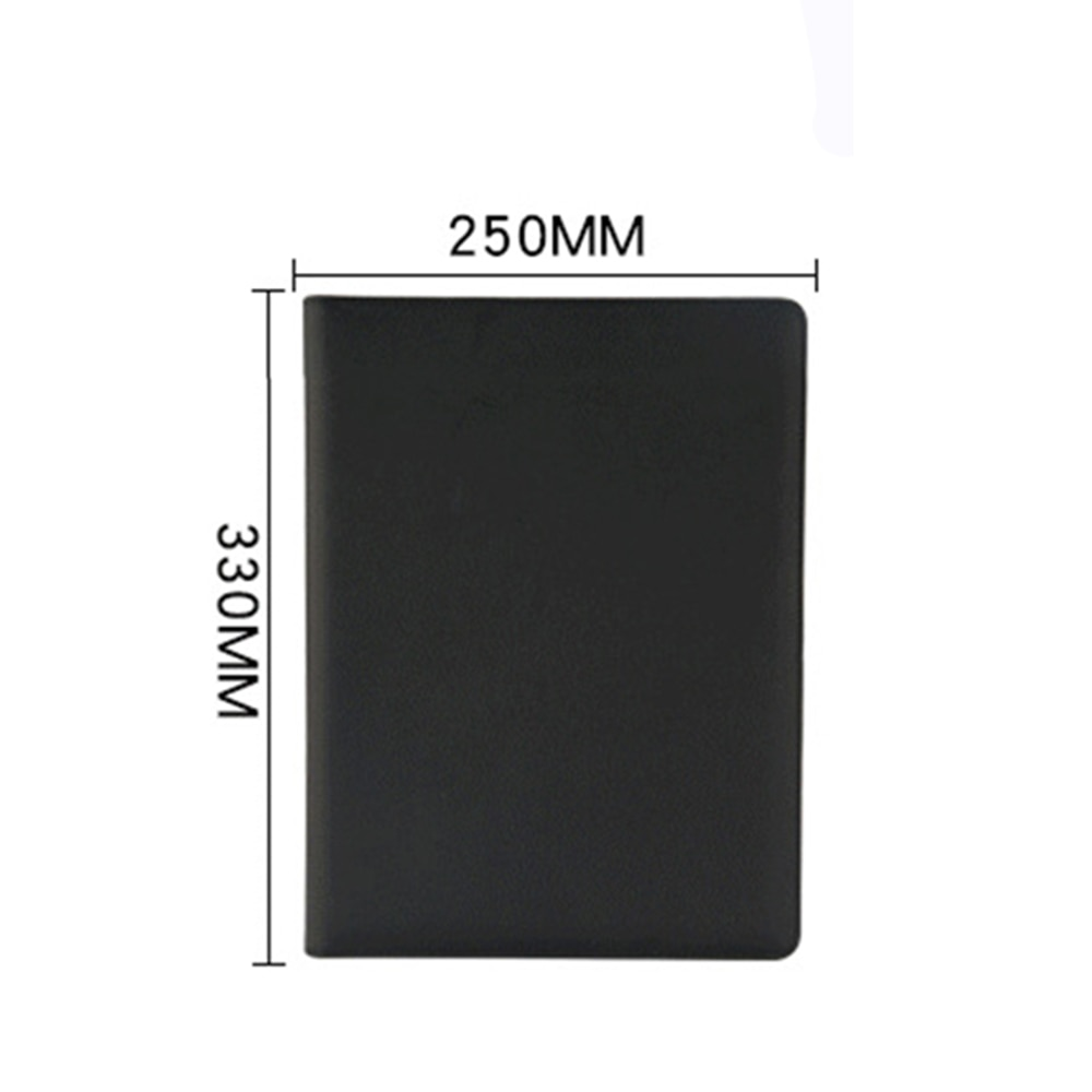 New A4 PU Leather File Folder With Calculator Case Office Supplies Organizer Manager Document Pads Briefcase Padfolio Bags