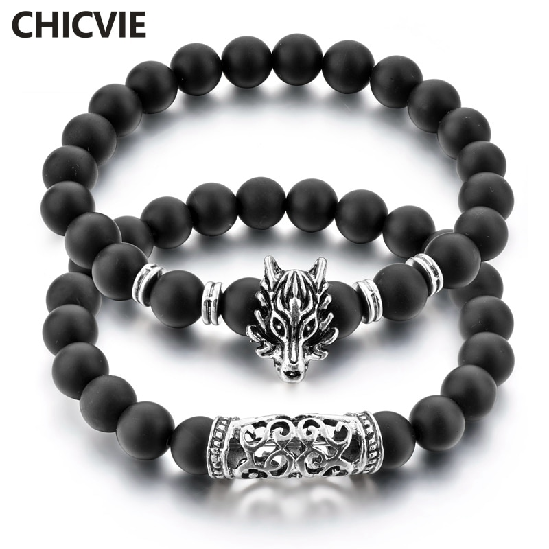 Pulseras y brazaletes CHICVIE de lobo a distancia personalizados para mujeres y hombres, fabricación de joyas de lujo, pulseras de marca SBR180078