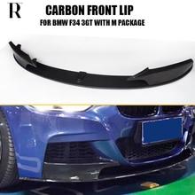 Pare-chocs avant F34 en Fiber de carbone P   Becquet à lèvres, avec séparateur latéral, pour BMW F34 3 série GT 320 328 330 340, paquet en M
