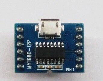 2/Uds mucho MY1680-12P Módulo de voz/USB descargar FLASH Actualización de sonido/MCU serie, chip de música Junta